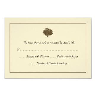 Elegant Tree Wedding RSVP Cards