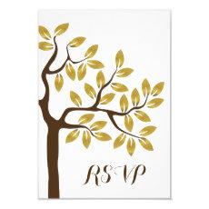 Elegant tree with gold foil leaves modern wedding 3.5