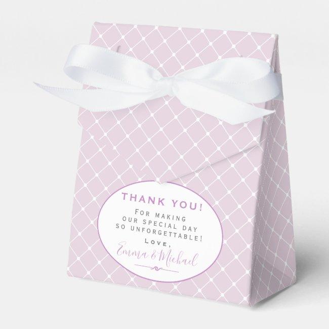 Elegant Trellis Pattern Lavender Thank You Wedding