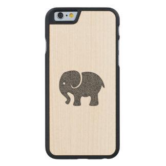 Elegant trendy girly cute elephant carved® maple iPhone 6 case