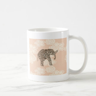 elegant trendy girly cute elephant lace coffee mug