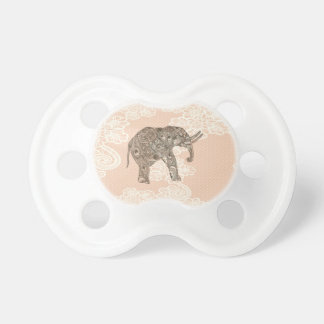 elegant trendy girly cute elephant lace pacifier