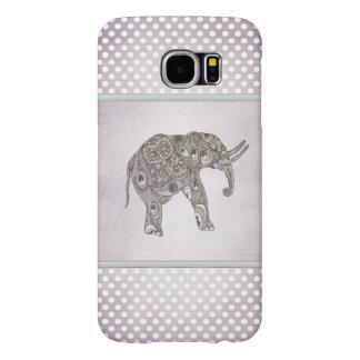 elegant trendy girly cute elephant polka dots samsung galaxy s6 cases