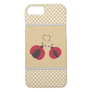 elegant trendy girly cute ladybugs polka dots iPhone 7 case