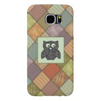 Elegant trendy girly cute owl patchwork samsung galaxy s6 case