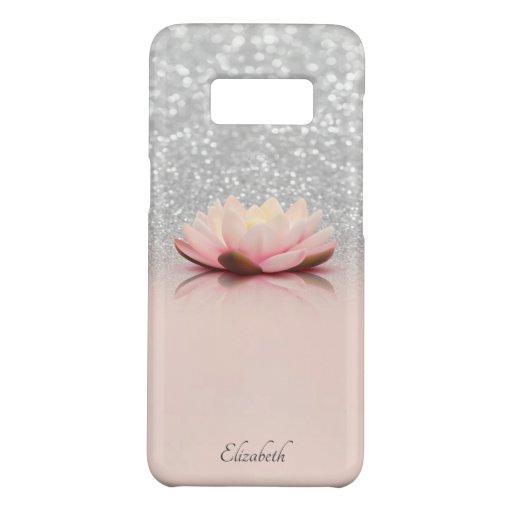 Elegant Trendy Girly, Lotus Silver Glitter Bokeh Case-Mate Samsung Galaxy S8 Case