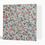 Elegant trendy girly vintage roses  floral pattern binder