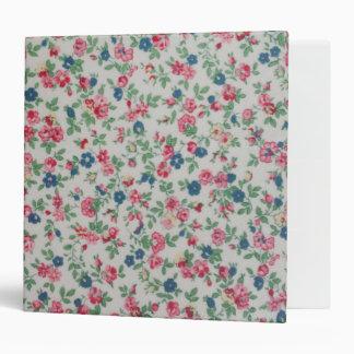 Elegant trendy girly vintage roses  floral pattern binder
