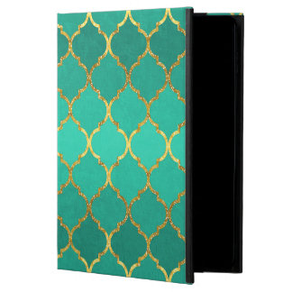 Elegant trendy gold faux glitter quatrefoil powis iPad air 2 case