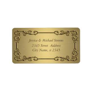 Elegant trendy gold  vintage label