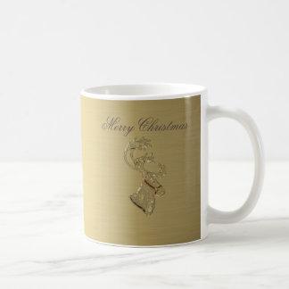 Elegant trendy holiday Christmas reindeer winter Classic White Coffee Mug