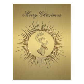 Elegant trendy holiday Christmas reindeer winter Postcard