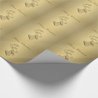 Elegant trendy holiday Christmas reindeer winter Wrapping Paper