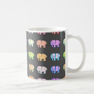 Elegant trendy modern girly cute elephants coffee mug