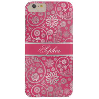 Elegant trendy paisley floral pattern illustration barely there iPhone 6 plus case