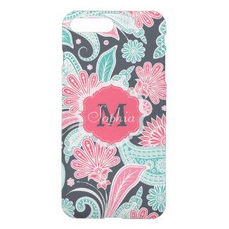 Elegant trendy paisley floral pattern illustration iPhone 7 plus case