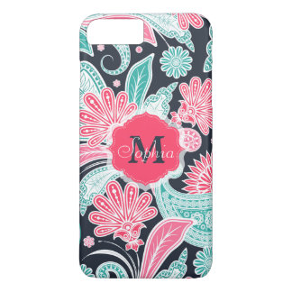 Elegant trendy paisley floral pattern illustration iPhone 8 plus/7 plus case