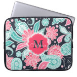Elegant trendy paisley floral pattern illustration computer sleeves
