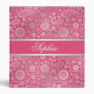 Elegant trendy paisley floral pattern illustration vinyl binders