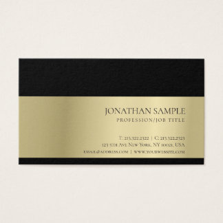 Elegant Trendy Professional Creative Gold Look Business Card