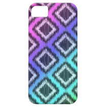 Elegant Tribal Ikat Aztec ZigZag Rainbow Colors iPhone SE/5/5s Case