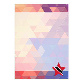 "Elegant Trinidad and Tobago flag heart 5"" X 7"" Invitation Card"