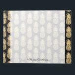 "Elegant Tropical Black and Gold Pineapple Pattern Notepad<br><div class=""desc"">Elegant Tropical Black and Gold Pineapple Pattern</div>"