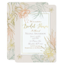 Elegant Tropical Botanical Floral Bridal Shower Card