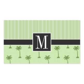 Elegant Tropical Palm Tree Business Card