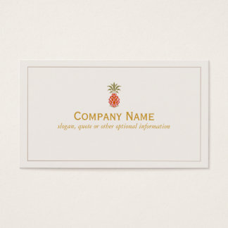 Elegant Tropical Pineapple Logo Business Card