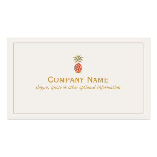 Elegant Tropical Pineapple Logo Business Cards