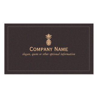 Elegant Tropical Pineapple Logo Double-Sided Standard Business Cards (Pack Of 100)