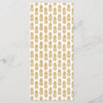 Elegant Tropical White Gold Pineapple Pattern