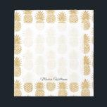 "Elegant Tropical White Gold Pineapple Pattern Notepad<br><div class=""desc"">Elegant Tropical White Gold Pineapple Pattern</div>"