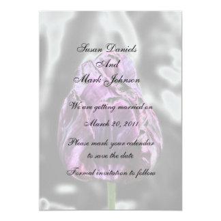 Elegant Tulip Flower Wedding Save The Date Card