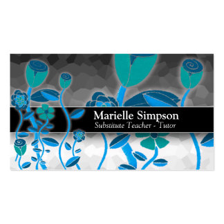 Elegant Tulip Garden Magic Ombre Fashion Boutique Double-Sided Standard Business Cards (Pack Of 100)