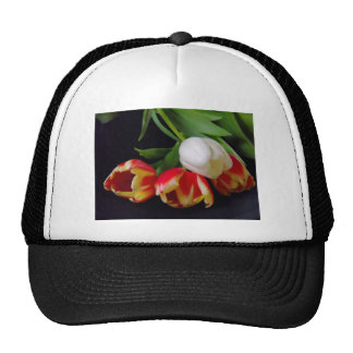 Elegant Tulips Mesh Hats