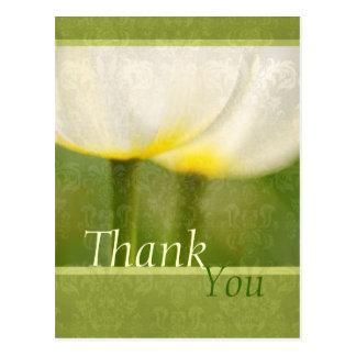 Elegant Tulips Thank You Postcard