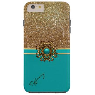 Elegant Turquoise and Gold iPhone 6 Plus case iPhone 6 Case