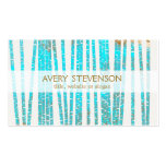Elegant Turquoise Blue Bamboo Nature Health Spa Business Cards
