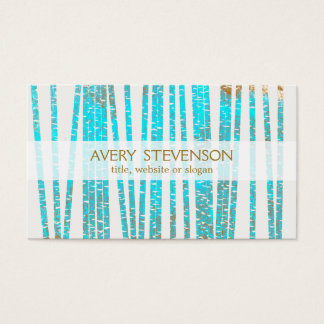 Elegant Turquoise Blue Bamboo Nature Health Spa Business Card