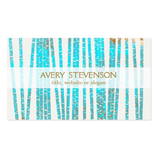 Elegant Turquoise Blue Bamboo Nature Health Spa Double-Sided Standard Business Cards (Pack Of 100)