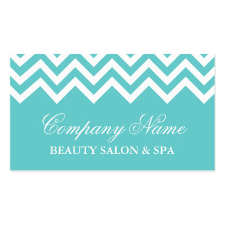 Elegant turquoise chevron pattern business card