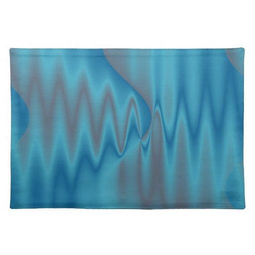 elegant turquoise design placemats