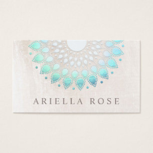 Esthetician business cards templates zazzle elegant turquoise floral lotus white marble business card colourmoves