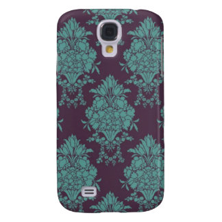 Elegant Turquoise French Damask Galaxy S4 Cover