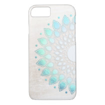 Elegant Turquoise Lotus Flower Floral iPhone 8/7 Case