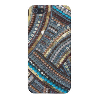 Elegant turquoise sequined covers for iPhone 5
