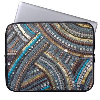 Elegant turquoise sequined laptop sleeve