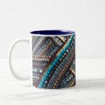 Elegant turquoise sequined mug